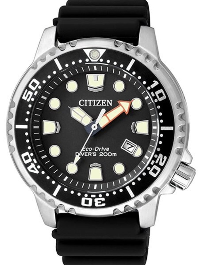 Citizen Eco-Drive Promaster Scuba Diver Watch with Rubber Dive Strap #BN0150-10E