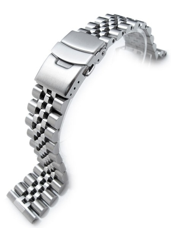 """Strapcode 22mm Super-J """"Louis"""" 316L Stainless Steel Watch Bracelet with Straight Ends #SS221803B020S"""
