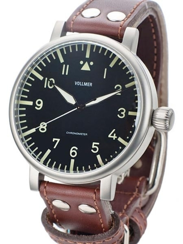 Vollmer W585B Kampfgruppen WWII-Style 55mm Limited Edition COSC Certified Chronometer