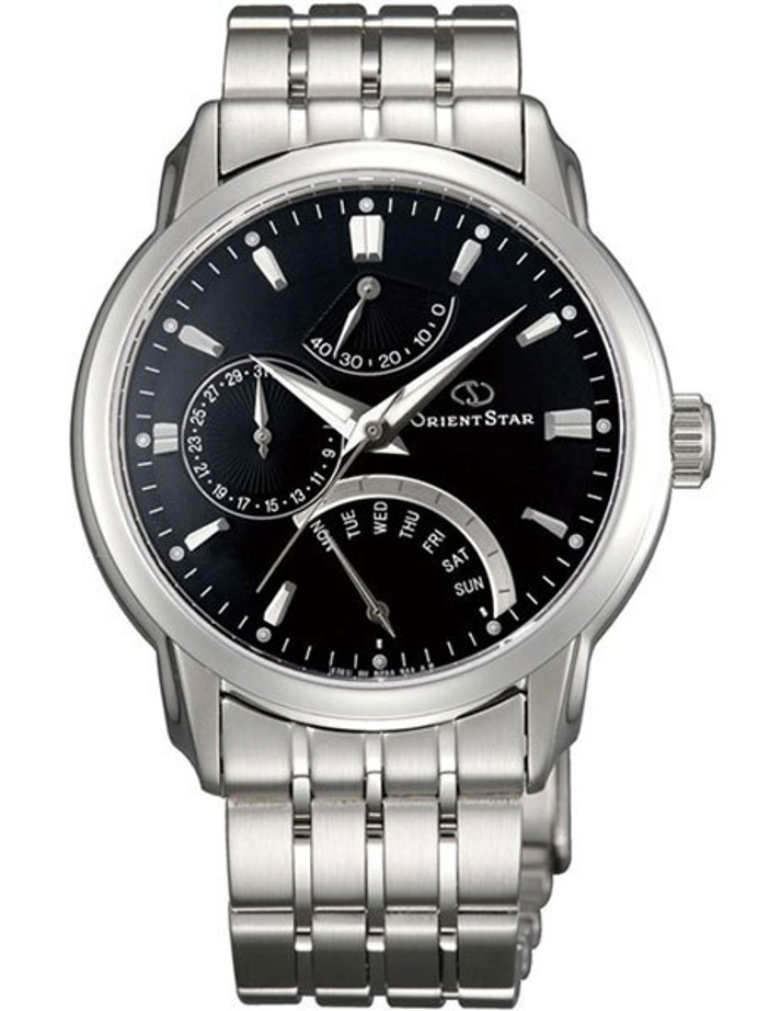 Orient Star Retrograde Day Watch with Date, Power Reserve, Sapphire Crystal #DE00002B
