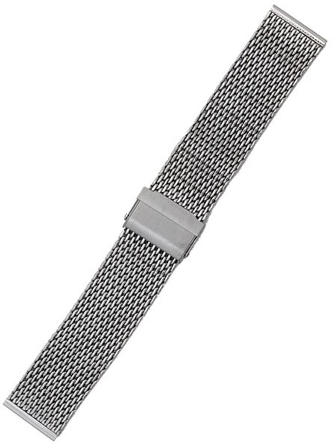 STAIB Polished Finish Milanaise Mesh Bracelet #ST-ST-2906-20813SBL (Straight End, 22mm)