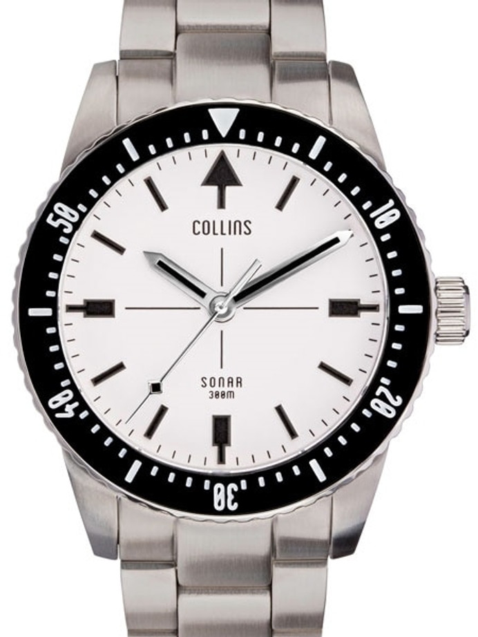 Collins SONAR Swiss Automatic, 300-M Dive Watch with 39.5mm Case and a Sapphire Crystal #CWC02