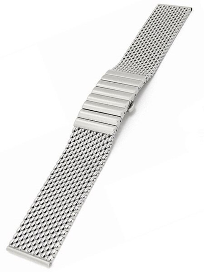 STAIB Polished Mesh Bracelet #STEEL-2792-6050PBM-P (Straight End, 22mm)