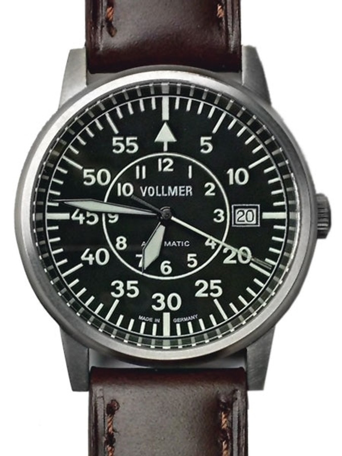 Vollmer Aerodyne Swiss Automatic Watch with Sapphire Crystal, 38.5mm Titanium Case #V5H85