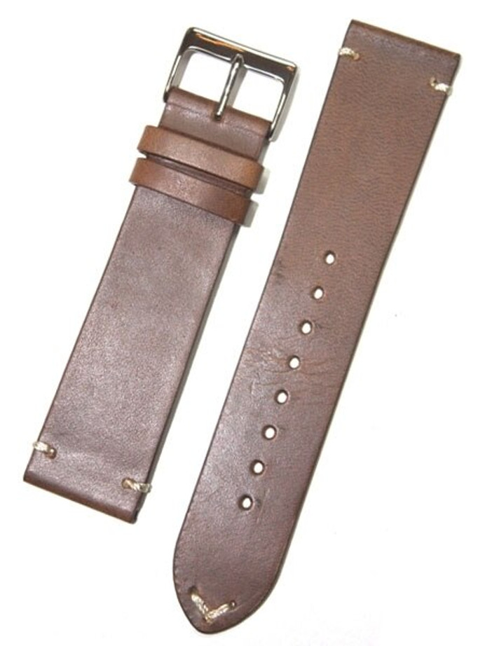 Horween Chromexcel Brown Calfskin Leather with Matching Lining and Hand-Stitching #INS-HOR81