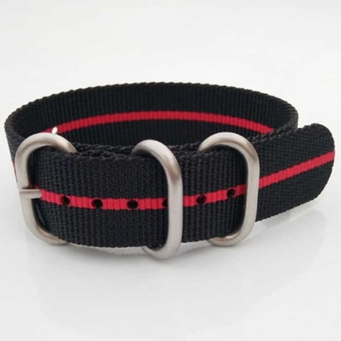 3-Ring Nylon Tactical Field Strap with Matte Finish Steel Buckle #TFS-24-SS
