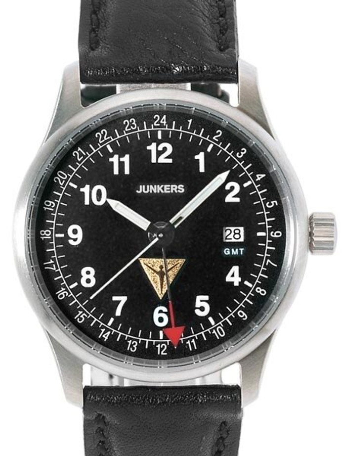 Junkers JU-52 GMT Watch with Independently Adjustable 2nd Time Zone #6246-2