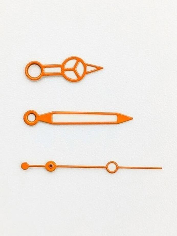 Orange Mercedes Style Luminous Watch Hands For Seiko SKX007, SKX009, SKX011, SKX173, etc. Watches #H01-03