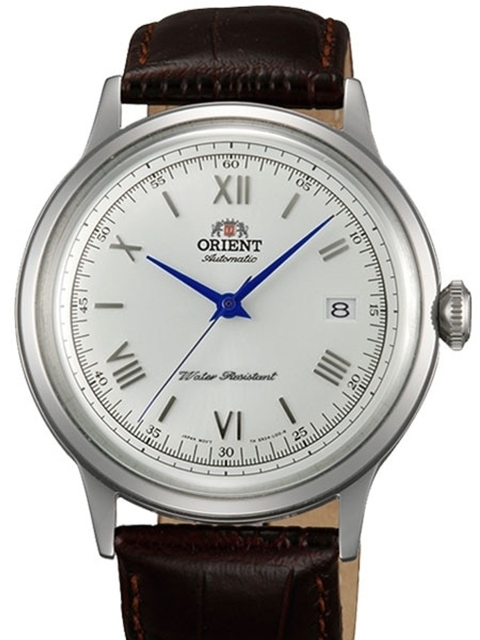 Orient 2nd-Gen Automatic Dress Watch with White Dial, Blue Hands #AC00009W
