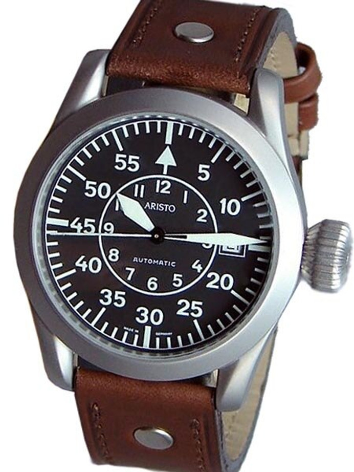 Aristo 3H32 Type B Dial Swiss ETA Automatic Pilot's Watch with Oversize Crown