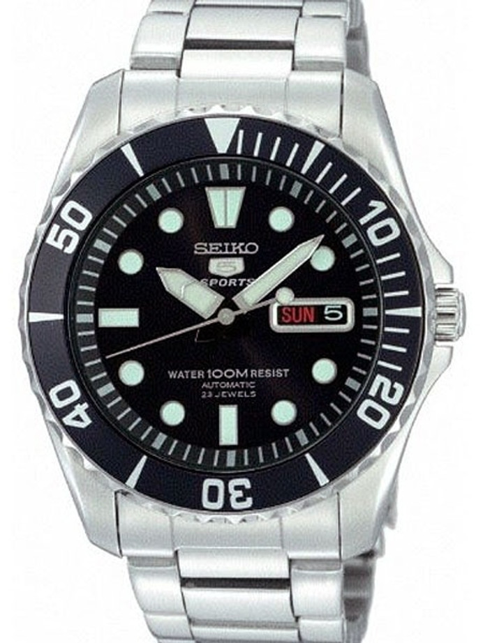 Seiko 42mm Sports 5, 23-Jewel Automatic Watch with Day and Date Window #SNZF17K1
