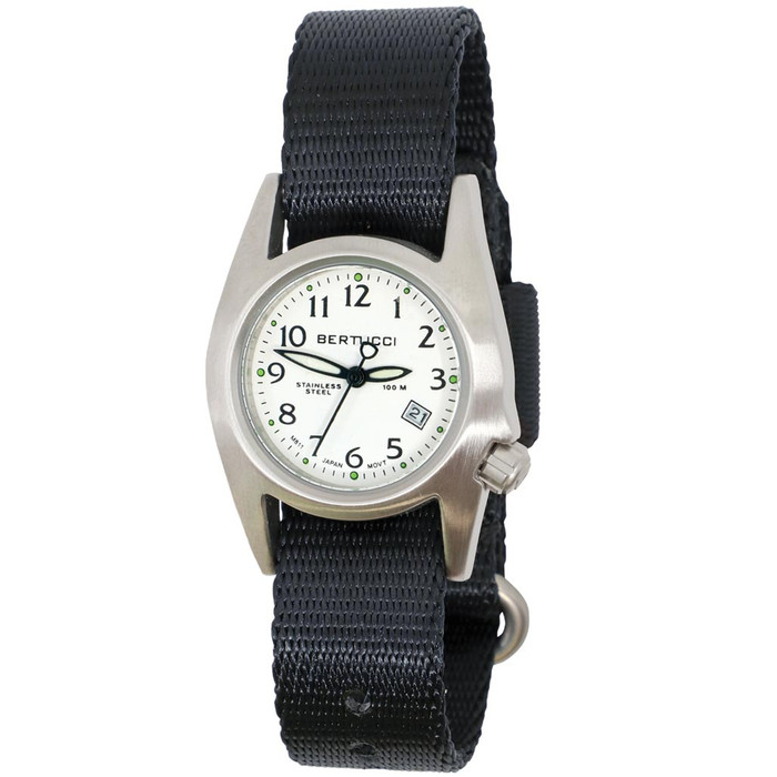 Bertucci M-1S Women's Stainless Steel Field Watch with a Nylon Strap #18007