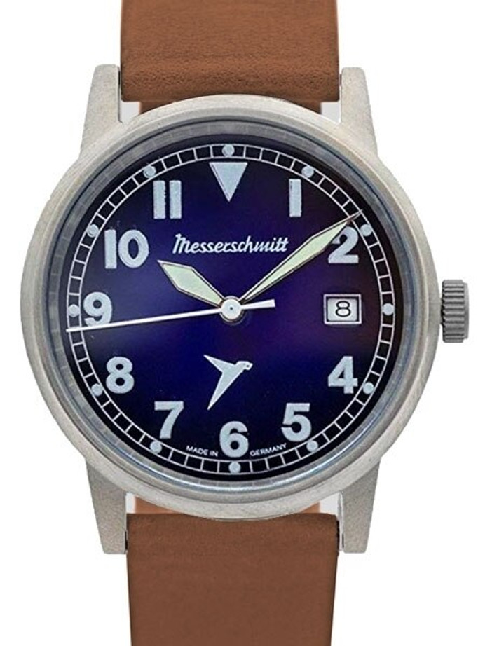 Messerschmitt 40mm Light Weight Titanium Case Swiss Quartz Pilot Watch #ME-385Ti