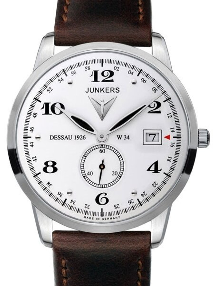 Junkers Dessau 1926 Flatline Ulta-Thin Quartz Dress Watch #6334-1
