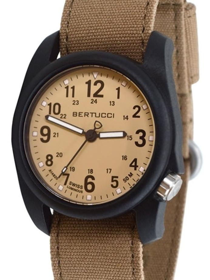 Bertucci DX3 Canvas Polycarbonate Unibody Watch, Sahara Comfort Band, Patrol Khaki™ Dial - 11092