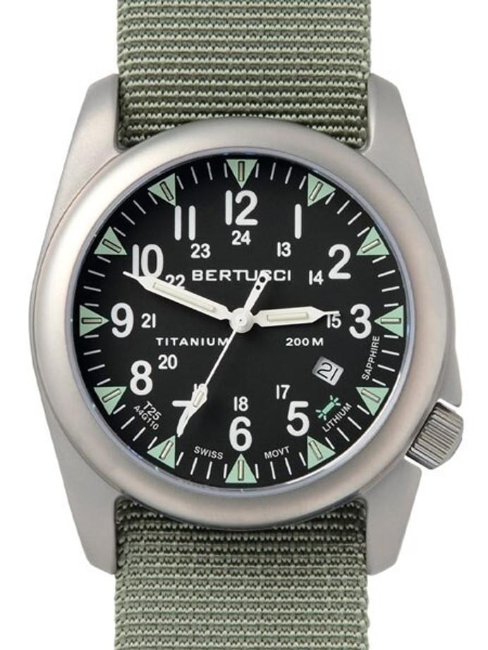 Bertucci A-4T Super Yankee Titanium Watch with Swiss Micro Tube Illumination #13481