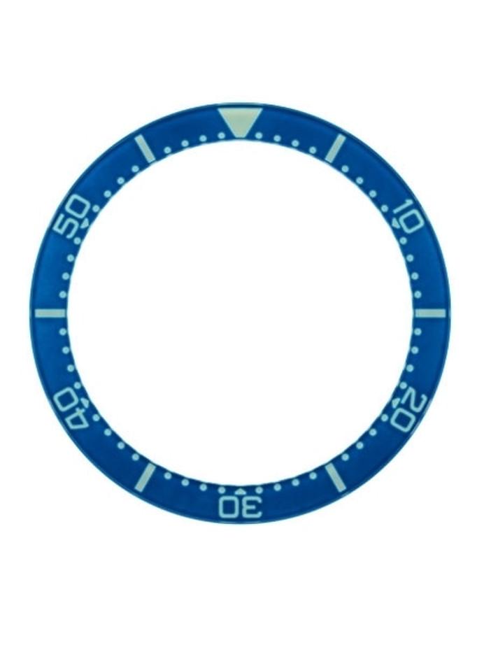 Blue Sapphire Luminous Bezel Insert for Squale 1521 Dive Watches #C20