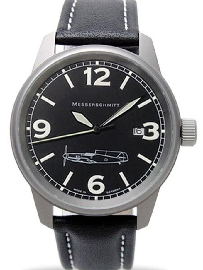 Messerschmitt 41mm Light Weight Titanium Case Pilot's Watch #ME109M