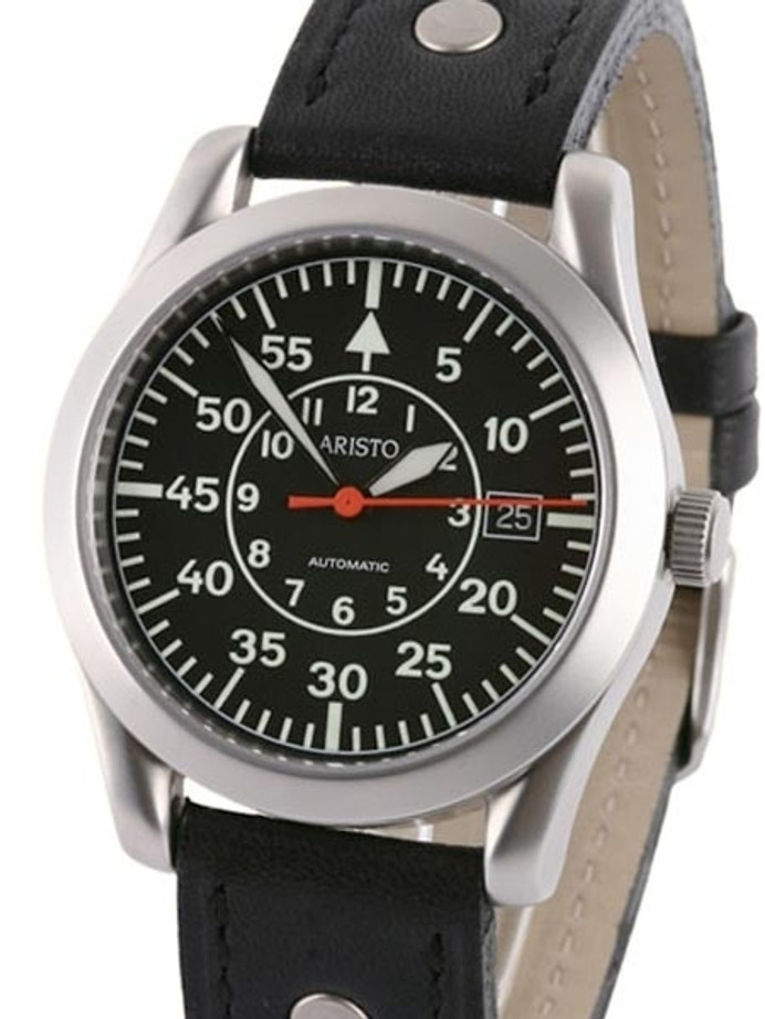 Aristo 3H33/3 Swiss Automatic Pilot's Watch with a Sapphire Crystal