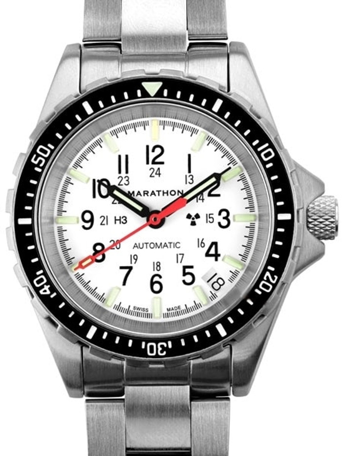 Marathon Swiss Made, (Medium) GSAR Automatic Military Divers Watch with Sapphire Crystal #WW194026BRACE-MA-WD