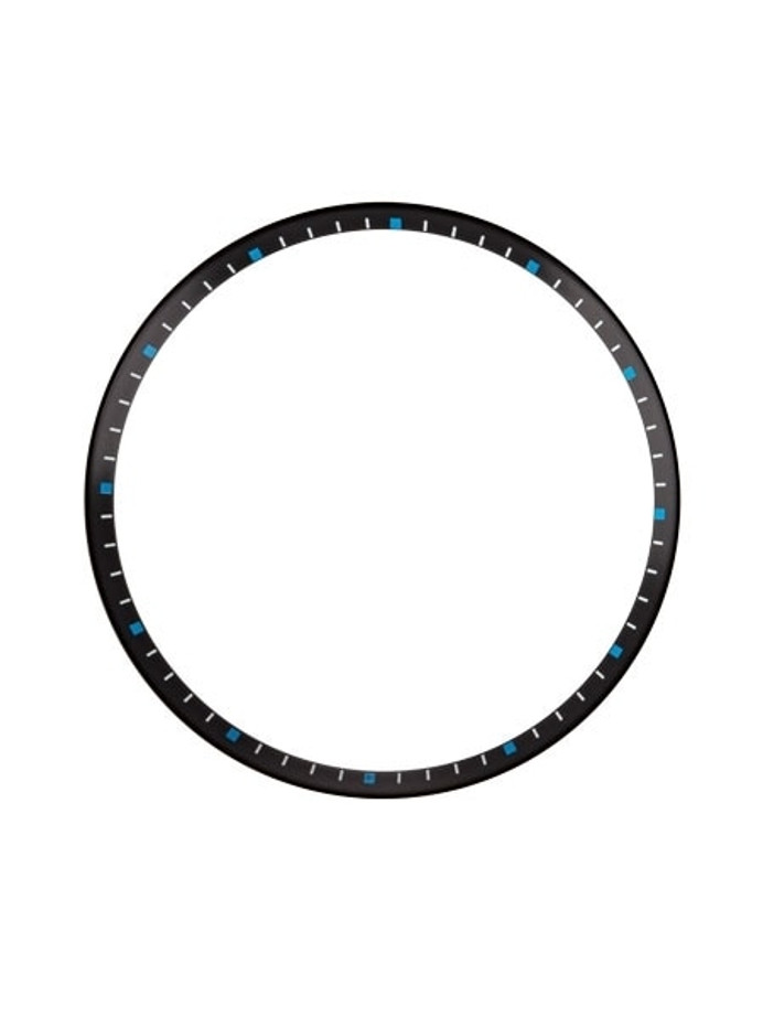 Matte Black Chapter Ring for Seiko SKX007, SKX009, SKX011 Watches #R03