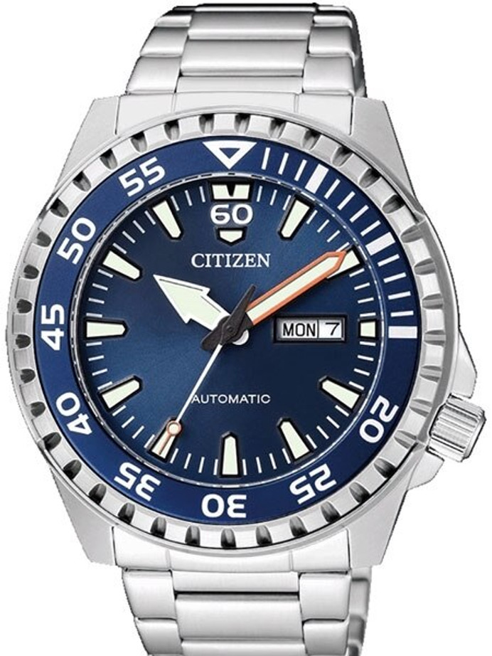 Citizen Automatic Sport Watch with Stainless Steel Bracelet #NH8389-88L