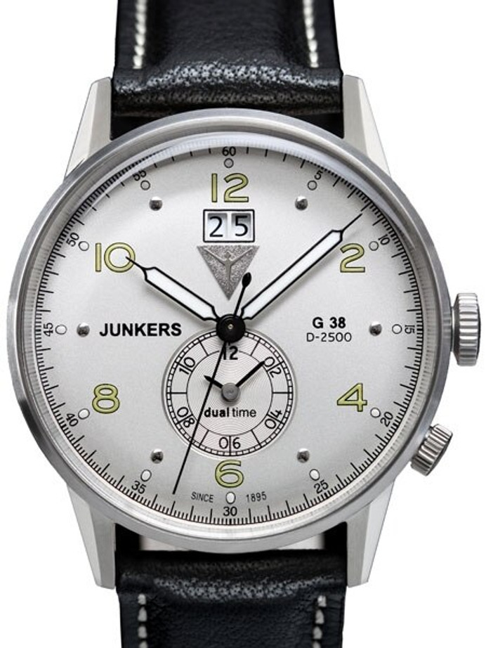 Junkers G38 Big Date, Dual Time Watch with Two Crowns #6940-4