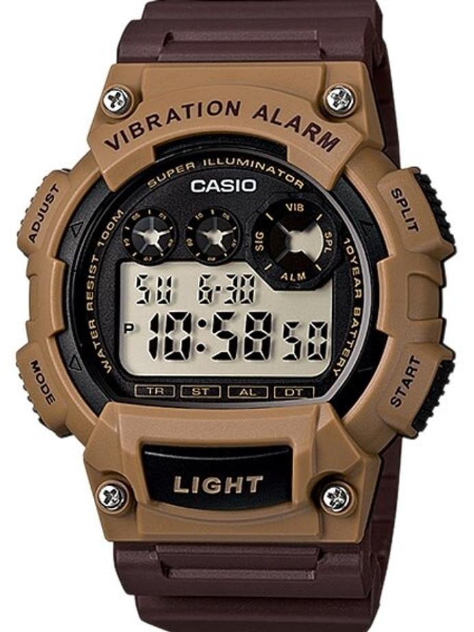 Casio Super Illuminator Dual-Time Chronograph with Vibration Alarm #W-735H-5AV