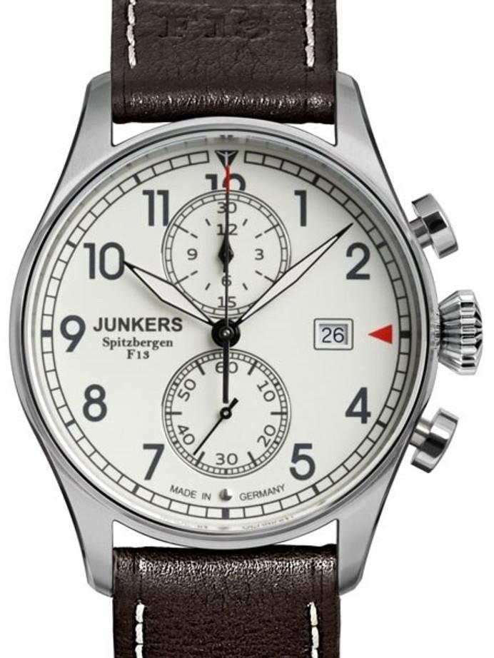 Junkers Cockpit JU52 Quartz Chronograph Watch, Sapphire Crystal #6178-5