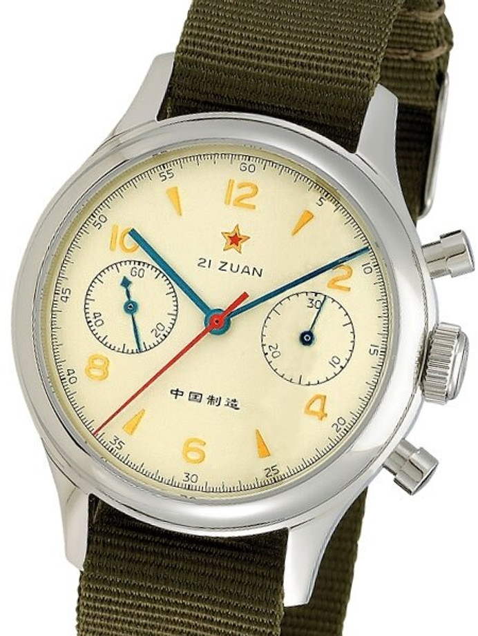 Scratch and Dent - Seagull 1963 Hand Wind Mechanical Chronograph with Sapphire Crystal #6345G-2901 32