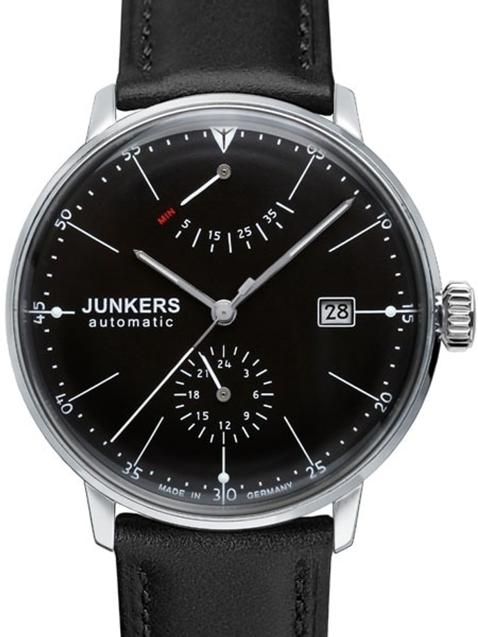 Junkers Bauhaus Automatic Watch with Power Reserve and 24hr Subdial #6060-2