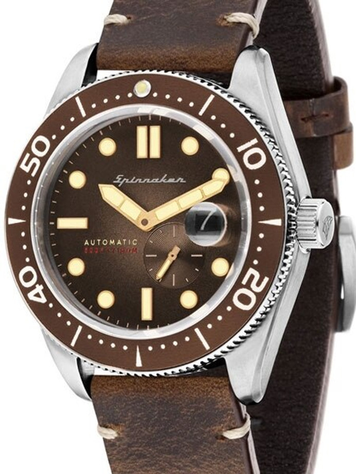 Spinnaker Croft Automatic Sports Watch with 43mm Case and Brown Dial #SP-5058-02