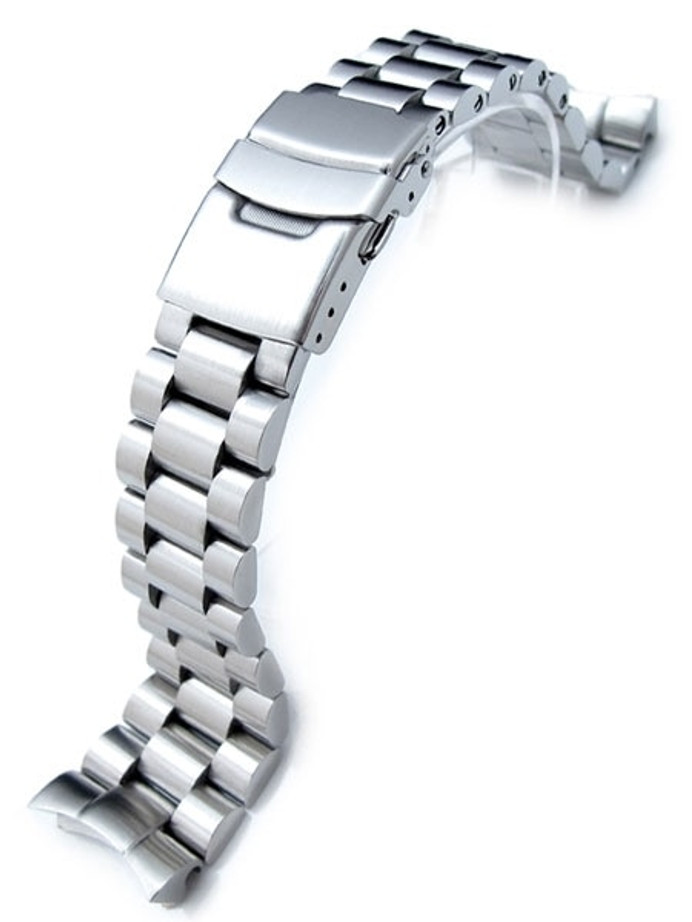 Strapcode 22mm Endmill watch bracelet for SEIKO Diver SKX007 Curved End #SS221803B033