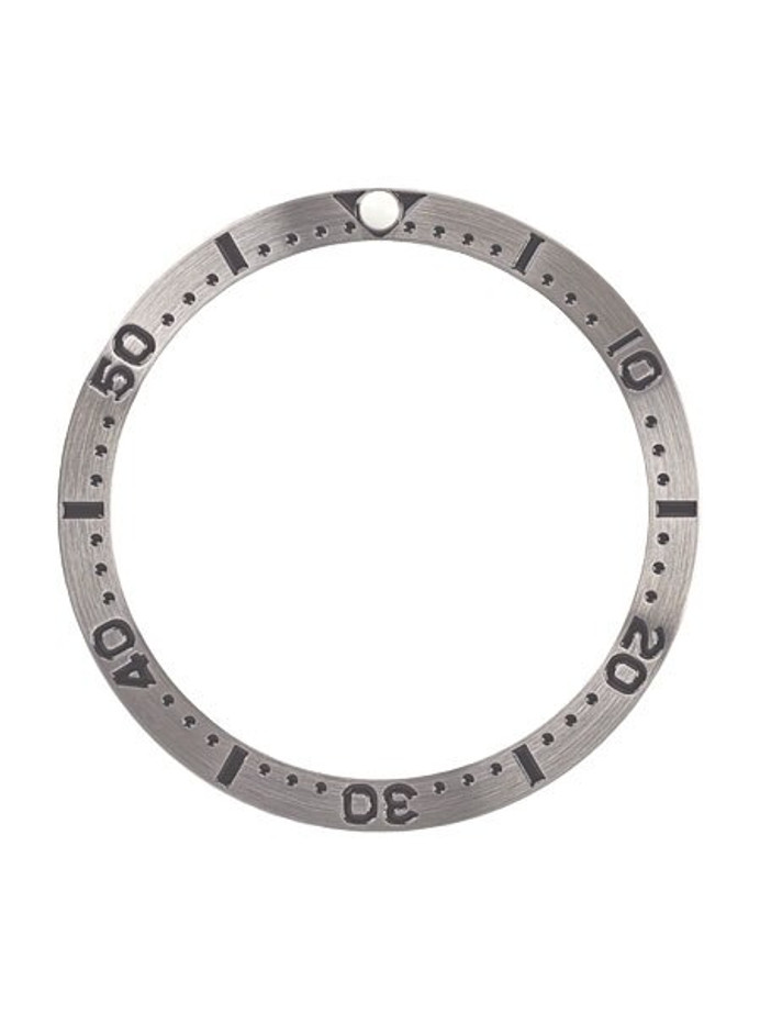 Brushed Steel Bezel Insert for Seiko SKX007, SKX009, SKX011 with Luminous PIP #C25