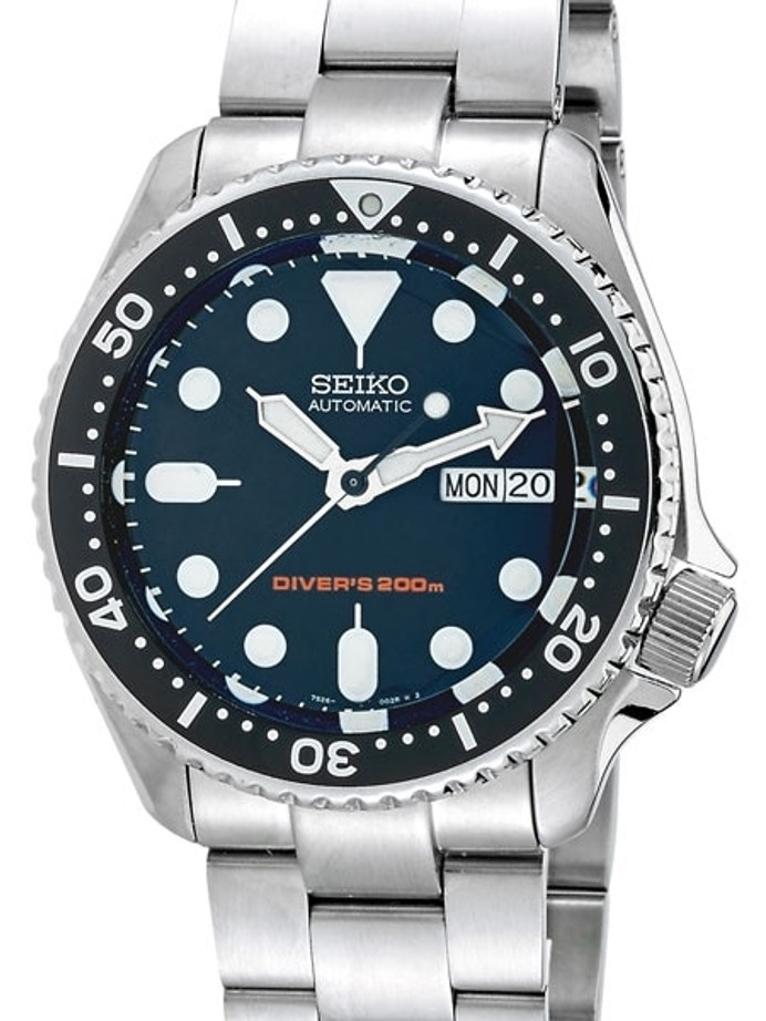 """Seiko SKX007 Divers Watch Strapcode Super-O """"Boyer"""" Edition with a Domed AR Sapphire Crystal #SKX007"""