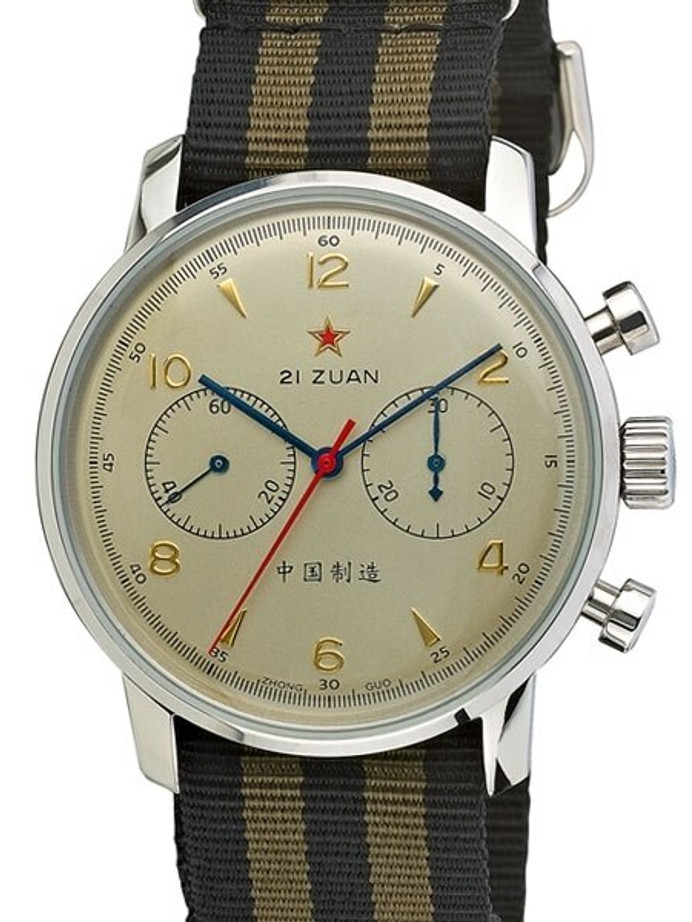 Scratch and Dent - Seagull 1963 Hand Wind Mechanical Chronograph with Sapphire Crystal #6488-2901C-S
