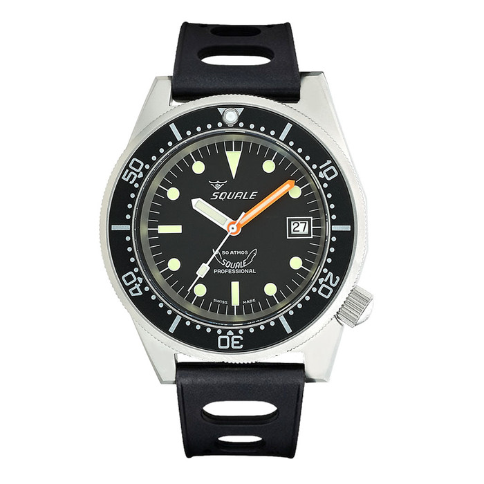 Squale 500 Meter Swiss Automatic Dive Watch with Matte Finish Case #1521-026-matte