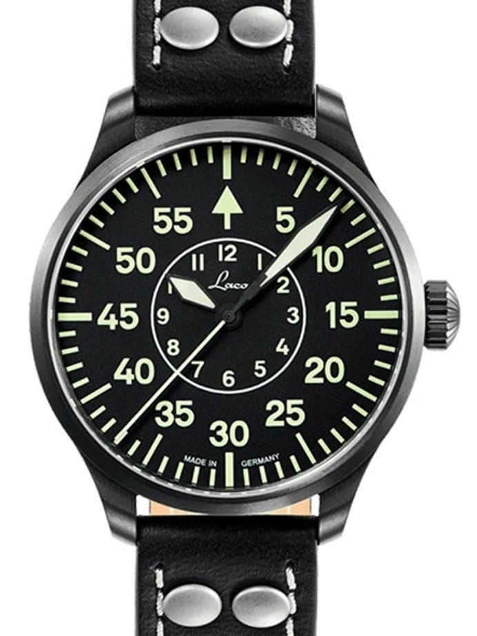 Laco 39mm Bielefeld Type-B Dial Automatic Pilot Watch with Sapphire Crystal #861992