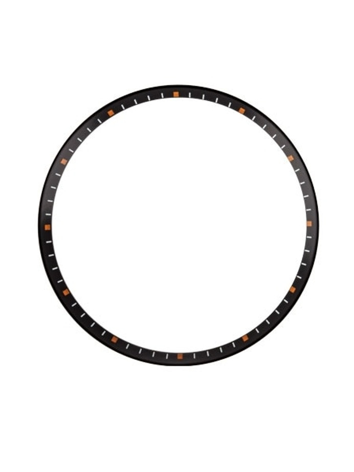 Matte Black Chapter Ring for Seiko SKX007, SKX009, SKX011 Watches #R02
