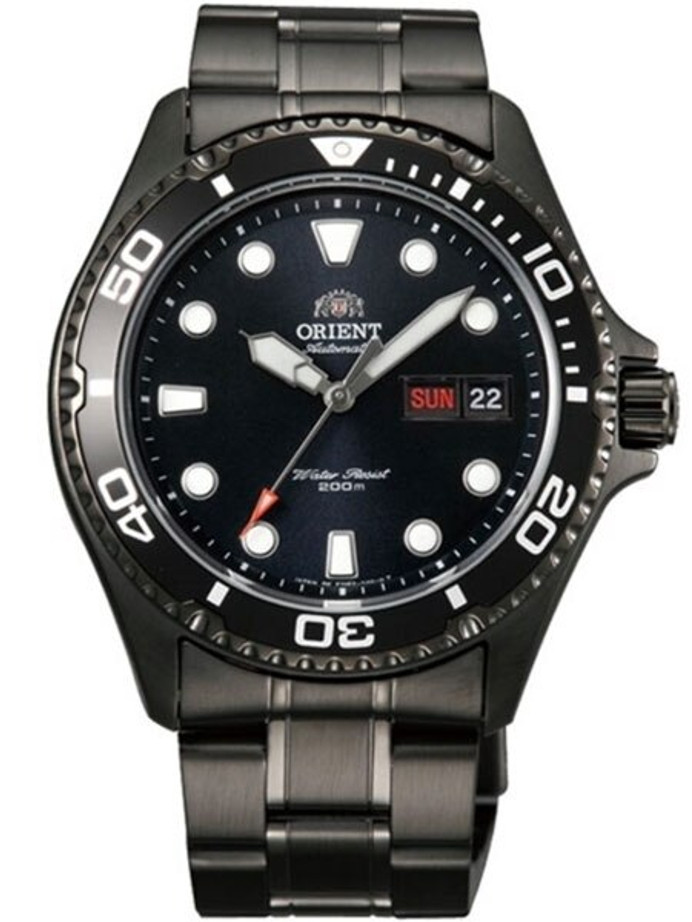 Customized Orient Ray Raven II Black PVD Automatic Dive Watch #AA02003B