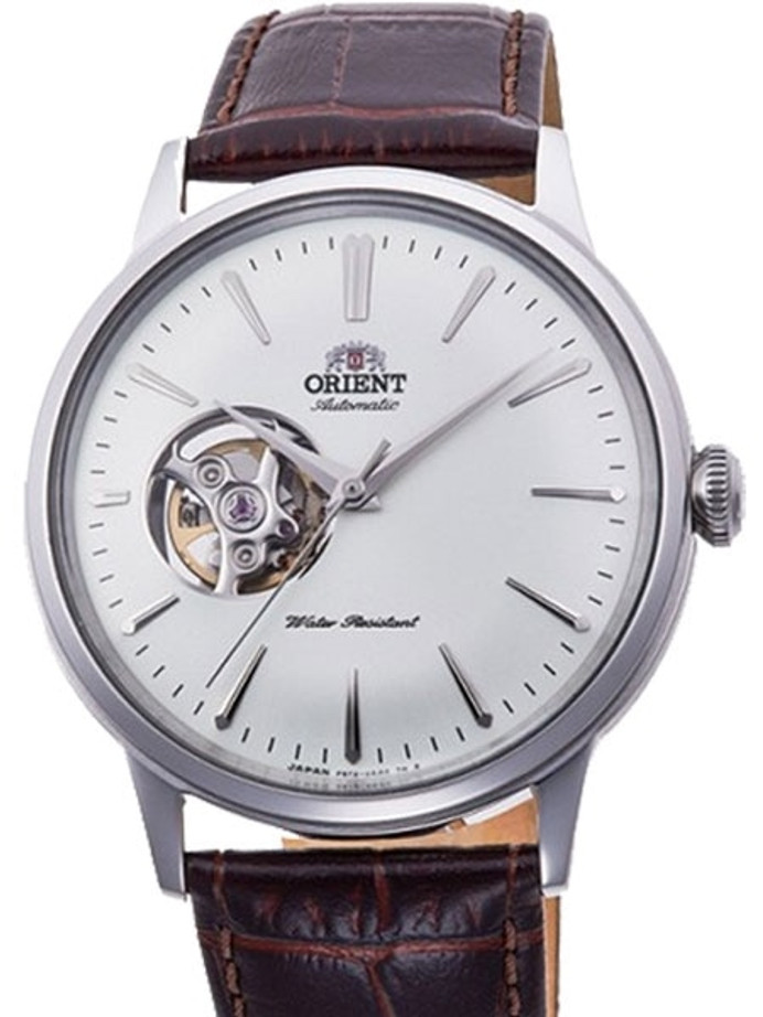 Orient Open-Heart Automatic Dress Watch with White Dial #RA-AG0002S10A