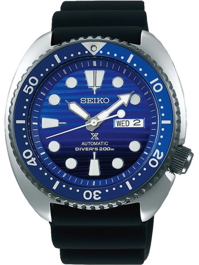 Seiko Save the Ocean Prospex Turtle Automatic Dive Watch with Silicone Dive Strap #SRPC91
