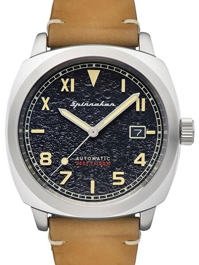 Spinnaker Hull Automatic Sports Watch with 42mm Case and Black Textured Dial #SP-5071-01