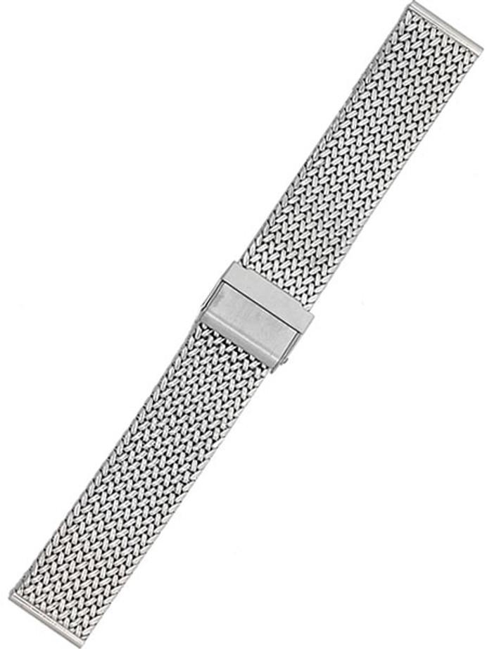STAIB Polished Finish Polonaise Mesh Bracelet #ST-ST-2910-20817SBL (Straight End, 20mm)