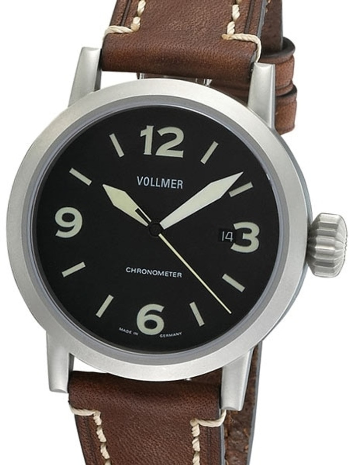 Vollmer V3 44mm Magneto Swiss COSC Certified Chronometer on a Hirsch Liberty Strap