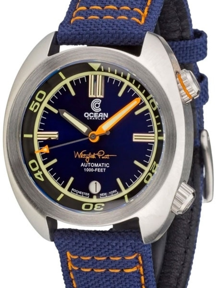 Ocean Crawler Great Lakes 300-Meter Dive Watch with Swiss Movement and Blue Dial #CD-1230