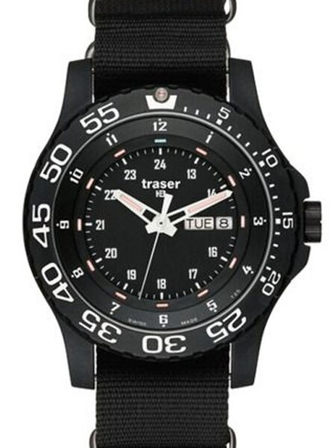 Traser Elite Red Military Watch with 45mm Case and a Sapphire Crystal #104637