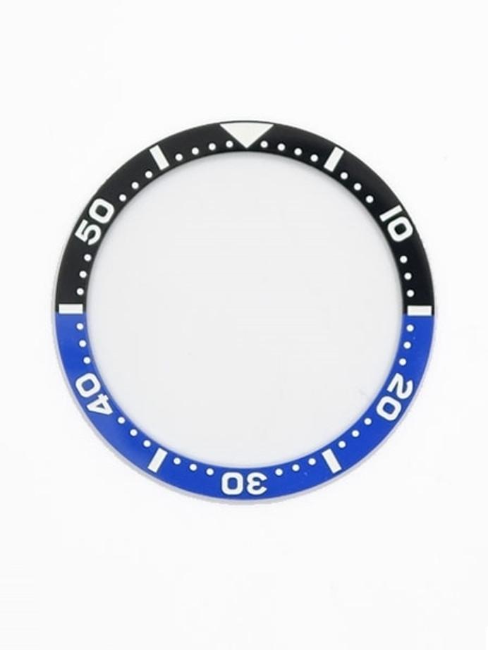 """Batman"" Ceramic Luminous Bezel Insert for Seiko SKX007, SKX009, SKX011 #C04"