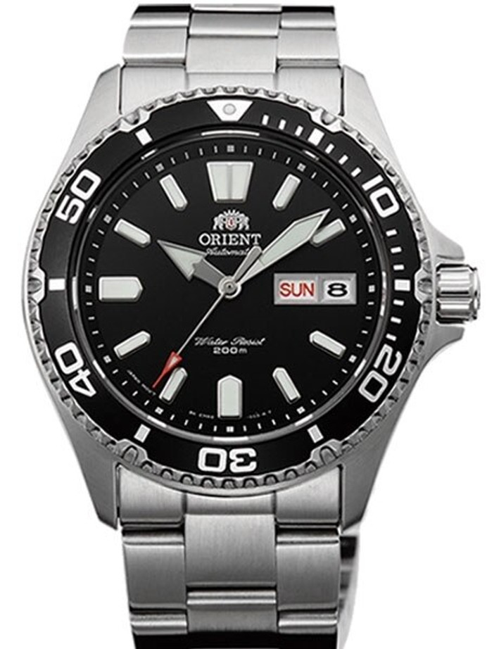 Scratch and Dent - Orient USA II Black Dial Automatic Dive Watch with Sapphire Crystal #AA0200AB