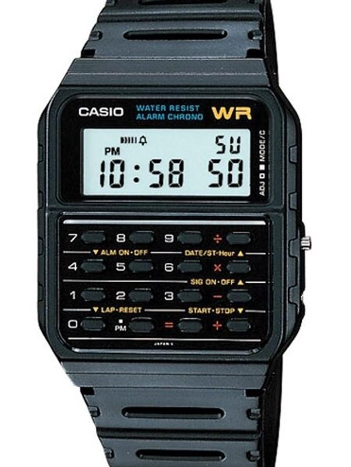 Casio Digital Dual Time Watch with Databank Calculator #CA-53W-1